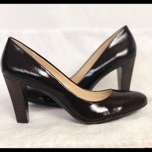 Calvin Klein Triangular Heel Brown 8 1/2 Shoes